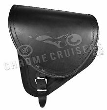 Harley Davidson Softail Black Leather Swingarm Saddle Bag Single Side Pannier