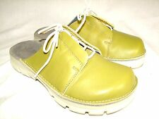 ALPRO BIRKENSTOCK Sz 36 US 5 Womens Lime Green Leather Clogs Slip On Shoes