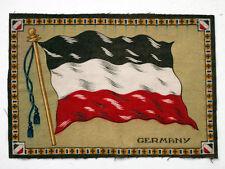 GERMANY Antique CIGARETTE TOBACCO Vintage FLANNEL FELT WORLD FLAG for Quilt