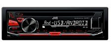 JVC AUTORADIO SINTOLETTORE CD 1 DIN KD-R471 MP3 USB / AUX FRONTALE - ROSSO