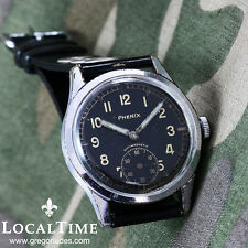 1950's PHENIX Deutsches Heer Vintage Military Watch AS Cal. 1130 Wehrmachtswerk