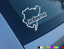 LICK MY RING FUNNY CAR STICKER NEVERBEEN NURBURGRING DECAL VINYL DUB JDM VW JAP