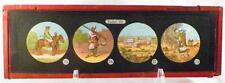 Antique Glass Slide Arabian Man Rifle Cutlass Magic Lantern Tafel VII 1880 AS IS