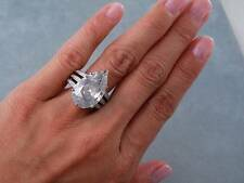 11.50 CARATS TW PEAR SHAPE DIAMOND ENGAGEMENT RING LOOKS HUGE!!!