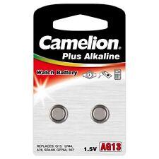 """2 Pack Camelion Plus Alkaline High Energy """"AG13"""" LR44 1.5V Battery 2 Pk Each"""