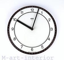 vintage BRAUN ABK 30 Wanduhr Küchenuhr Dietrich Lubs Dieter Rams wall clock 80er