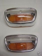 PEUGEOT 404 front clear/amber lenses for, 2 PIECES NEW RECENTLY MADE
