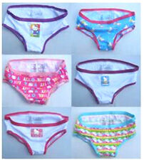 64% OFF! 6 PCS HELLO KITTY HIPSTER COTTON PANTIES SZ 6 /4-6 YRS SET D BNEW $6.99