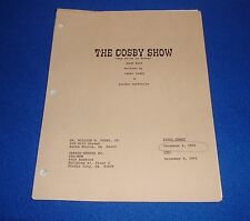Vintage 1991 The Cosby Show Script Final Draft Estate of Actress Pauline Myers