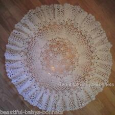 CROCHET PATTERN for Babys Christening Shawl Circular Lace Blanket Afghan #22