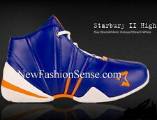 New Authentic Starbury 2 Blue Orange White High Top Basketball Shoes Size 8