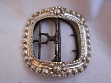 ANTIQUE FRENCH STERLING SILVER BELT BUCKLE,LATE 18th CENTURY.