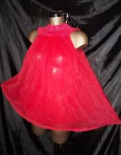 VINTAGE TENSHEEN RED DOUBLE SHEER BABYDOLL NIGHTGOWN SIZE XS