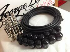 George L's 155 Pedalboard Effects Cable Kit LARGE .155 Black / Nickel 15/14/14