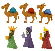 JESSE JAMES BUTTONS ~ DRESS IT UP ~ WE THREE KINGS 8048 ~ WISE MEN ~ CHRISTMAS
