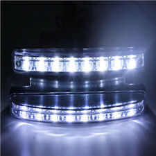 1pc Super Bright 8 LED Car DRL Daytime Running Light Daylight Bulb Head Lamp