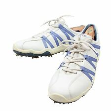 Ecco Golf Shoes Mens 44 US 10 Sneaker Style White Blue