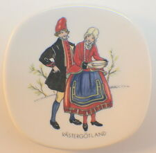 Rorstrand Sweden Small Plate Butter Pat Open Salt Swedish National Costumes