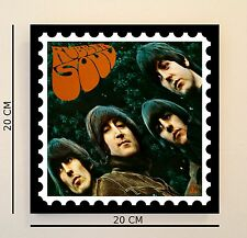 Retro Pop Art Beatles Rubber Soul 8 INCH Picture Tile Gift Idea FREE UK P&P