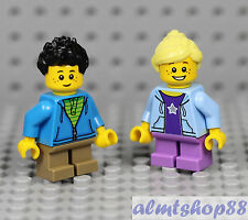 LEGO - Boy & Girl Minifigure Combo - Family Brother Sister City Town Male Female