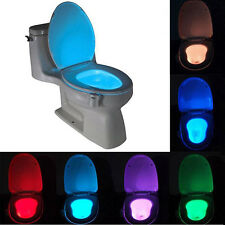 MiniColorful Body Sensing Automatic LED Motion Sensor Toilet Bowl Night Light SL