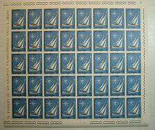 1965  ITALIA 70 lire  Campionato Velico Mondiale   foglio intero MNH**