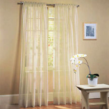 Khaki Window Door Curtain Tulle Voile Balcony Divider Room Decor 100x200cm
