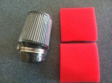 "Go Kart Air Filter 3 1/2""x4""x2 7/16"" ID with Foams Clone 5hp Briggs Predator Red"