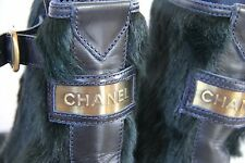 Auth New NIB Chanel ankle boots 40 US 9.5 calf hair leather gold $2400+ Stunning