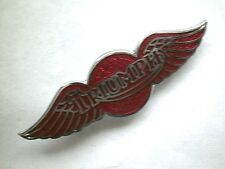 "Badge PIN MOTO ""triomphe Wing-Rouge"" badge revers moto-bg38a"