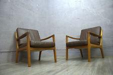 Midcentury Arm Chair fauteuil Sessel Ole Wanscher LEDER MOCCA France Son Senator