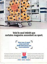 Publicité 1996  HYPER U ... SUPER U ... MARCHE U  magasins alimentation sport