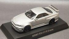Kyosho 1/64 NISSAN Skyline GTR R34 NISMO R34 GT-R Z-tune Silver  New