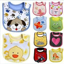 5Pcs/lot New Baby Boy Girl Newborn Kids Bibs Waterproof Saliva Towel Bib