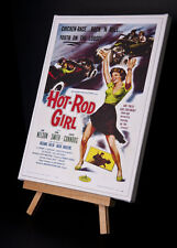"1950's ""Hot Rod Girl"" de Cine Cartel Lona Impreso"