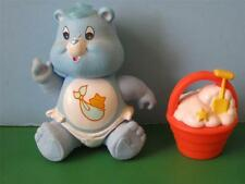 "Vintage 3"" BABY TUGS Poseable Figure Cake Topper CARE BEAR Toy w/ Bucket Shovel"
