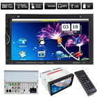 "Double 2 Din 7"" In Dash Stereo Car DVD CD Player Bluetooth Radio iPod SD/USB TV"