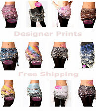 Wholesale Chiffon Belly dancing hip scarves for $3 each for 100 Lot