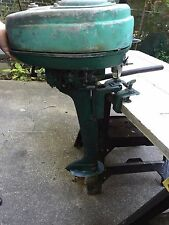 VTG 1950'S ELGIN OUTBOARD MOTOR 5 10 HP? GREEN PROJECT REPAIR GREEN boat fishing