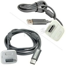 2in1 USB Câble Chargeur Charger Cable pour Manette Controller Microsoft Xbox 360