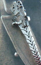 Ola Gorie Silver Brooch Kilt Pin Scottish Lion 1980s Boxed