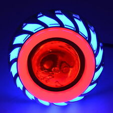 Motorcycle 12V-85V CREE Halo Ring LED Head Light Devil Angel Eye 3 Mode Lamp New