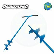 Silverline Fence Post Hole Auger Drill Digger Hand Tool Garden 127mm 868696