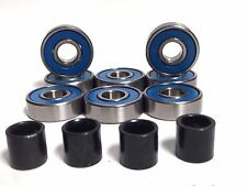Blue Color Abec7 (8 PACK) 8mm LONGBOARD SKATEBOARD BEARINGS Roller Skate Bearing