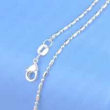 1PCS 18 inch 925 Sterling silver plating Ball Chain Necklaces Wholesale