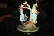 """LARGE """"THE MESSINA COLLECTION"""" APPLE HARVEST STAND FIGURINE EXCELL"""