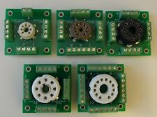 Set of 6 breadboard / prototype tube sockets for DIY experimenting