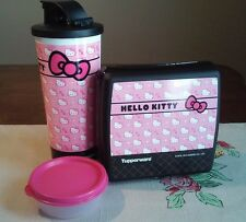 Tupperware NEW Hello KiTTy BOWTASTIC PINK Sandwich keeper Tumbler MINI Snack CUP