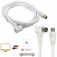 1.5M Right Angle Plug TV Antenna AV Cable Coaxial Male For Digital / Analogue
