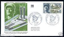 enveloppe premier jour d'émission . Général Leclerc. monument . 1969